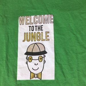 Welcome to the jungle green sz S tee